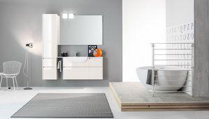 Kami comp.09, Mueble de baño modular con acabados pulidos