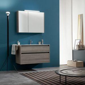Kami comp.11, Mueble de baño con espejo de almacenamiento
