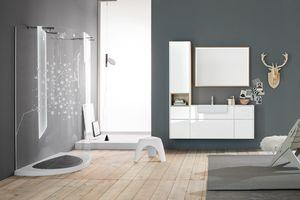 Kami comp.13, Mueble de baño modular con compartimento de almacenamiento
