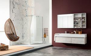 Kami comp.14, Mueble de baño con grandes cajones y espejo