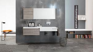 Kami comp.16, Composición de baño modular, estilo moderno