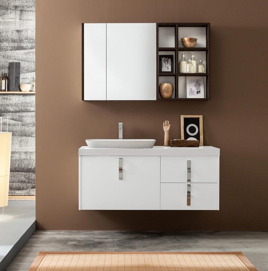 Mueble de ba o con espejo de almacenamiento idfdesign for Gabinete de almacenamiento de bano barato