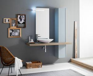Kami comp.19, Cuarto de baño con columna y lavabo sobre encimera