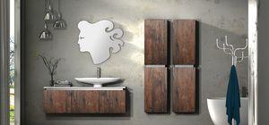 Plane ancient essences 03, Muebles de ba�o con acabado envejecido de madera de casta�o