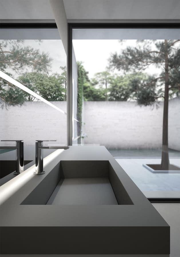Sense comp.06, Muebles de baño modulares, con espejo grande