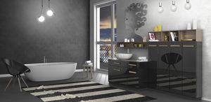 Torana TR 031, Mueble de ba�o negro brillante
