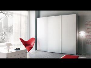 Armario Zen 01, Armario con puertas correderas, para hoteles y oficinas