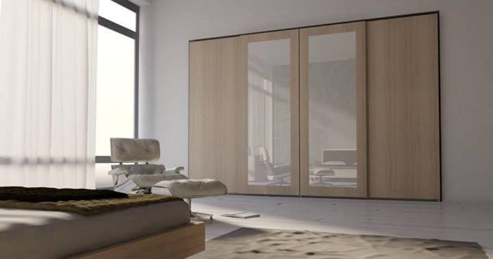 Armario 20, Armario moderno para dormitorios, wardrobewith puertas correderas adecuados para el área de dormir