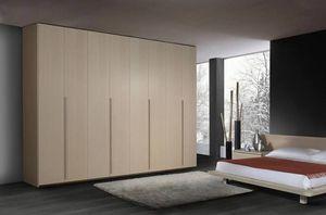 Armario 22, Armario de madera Contemporáneo, 6 puertas batientes, para los dormitorios
