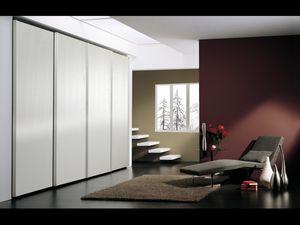 Armario Coo 05, Armario con 4 puertas, de estilo minimalista, para los hoteles