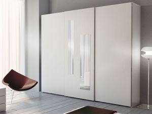 Armario Zen 05, Armario con 2 espejos verticales en el centro de la puerta