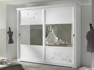 Camelia Armario, Armario blanco con puertas correderas de espejo