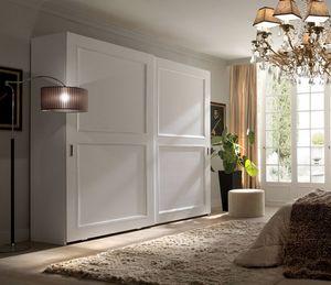 Liò armario lacado blanco, Armario con puertas correderas, lacado en blanco.