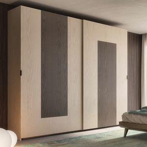 Nova NOVA1317T, Armario con puertas correderas en madera de fresno
