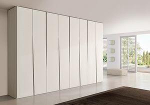 SIPARIO comp.02, Armario moderno para los dormitorios, delgado y compacto