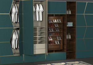 Zenit habitación, Sistema modular de paredes equipadas para dormitorio.