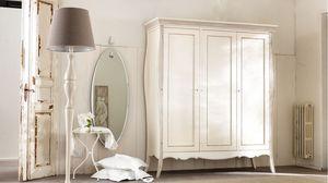 Amedeo armario, Armario de madera maciza, con incrustaciones y decorado a mano