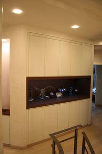 Armario para pasillo 01, Armarios modulares para pasillo, acabados personalizables