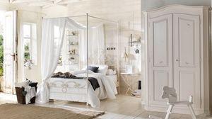 Beniamino armario, Armario de madera maciza, personalizable con dibujos y texto