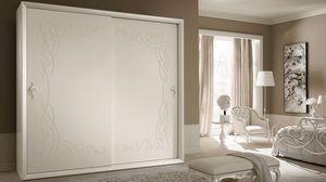 Siena Frame guardarropa, Armario con puertas correderas, estilo clásico contemporáneo