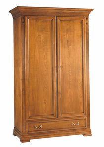 Villa Borghese armario 7377, Armario tradicional de madera con dos puertas.