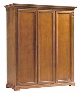 Villa Borghese armario 7379, Armario de madera con tres puertas, en estilo Directoire.
