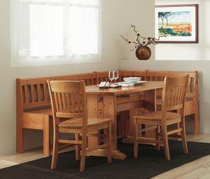 Colección Veronica, Bench mesa de madera de estilo tradicional, para el hogar