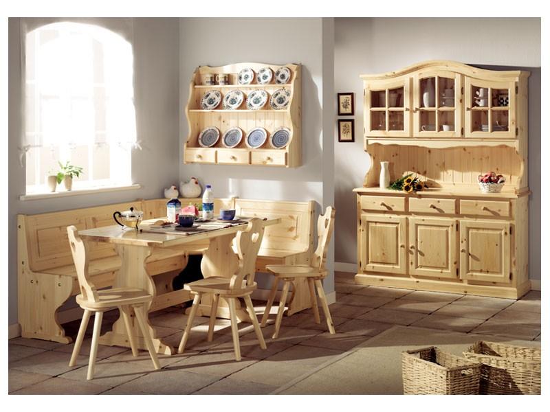 Collection Giorno 2, Mesa Banco de madera de abeto, en estilo rústico