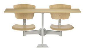 DIDAKTA SLIM D10, Mesa móvil con 2 sillas, y comedores escolares