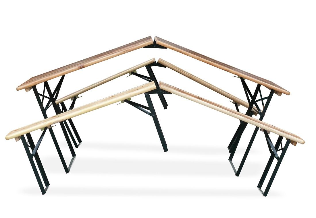 Mesa y bancos en abeto, para fiestas al aire libre | IDFdesign