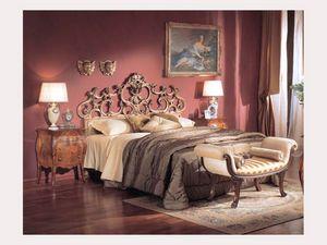 3245 BENCH, Banco acolchado con rodillos, estilo clásico de lujo