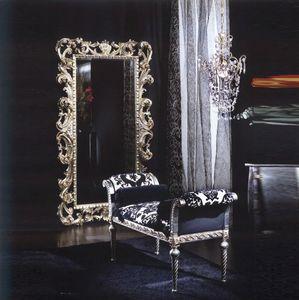 701 BENCH, Banco acolchado con rodillos, estilo clásico de lujo