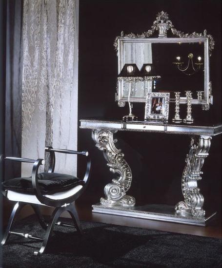 703 BENCH, Banco acolchado con el ajuste de plata, estilo clásico de lujo