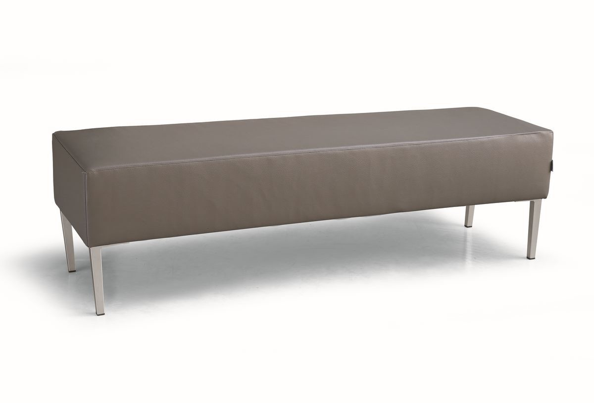 ART. 953 HOLLYWOOD BENCH, Bancos acolchados, con base de metal, para salas de espera