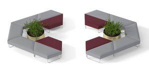 FORMAT, Asientos tapizados modulares para salas de espera.