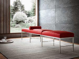 Paesaggio, Banco moderno de sala de espera,, base de metal esencial