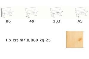 PIZ/130, Banco de madera, estilo rústico, de hotel y pizzería