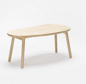 Pebble bench, Banco de madera