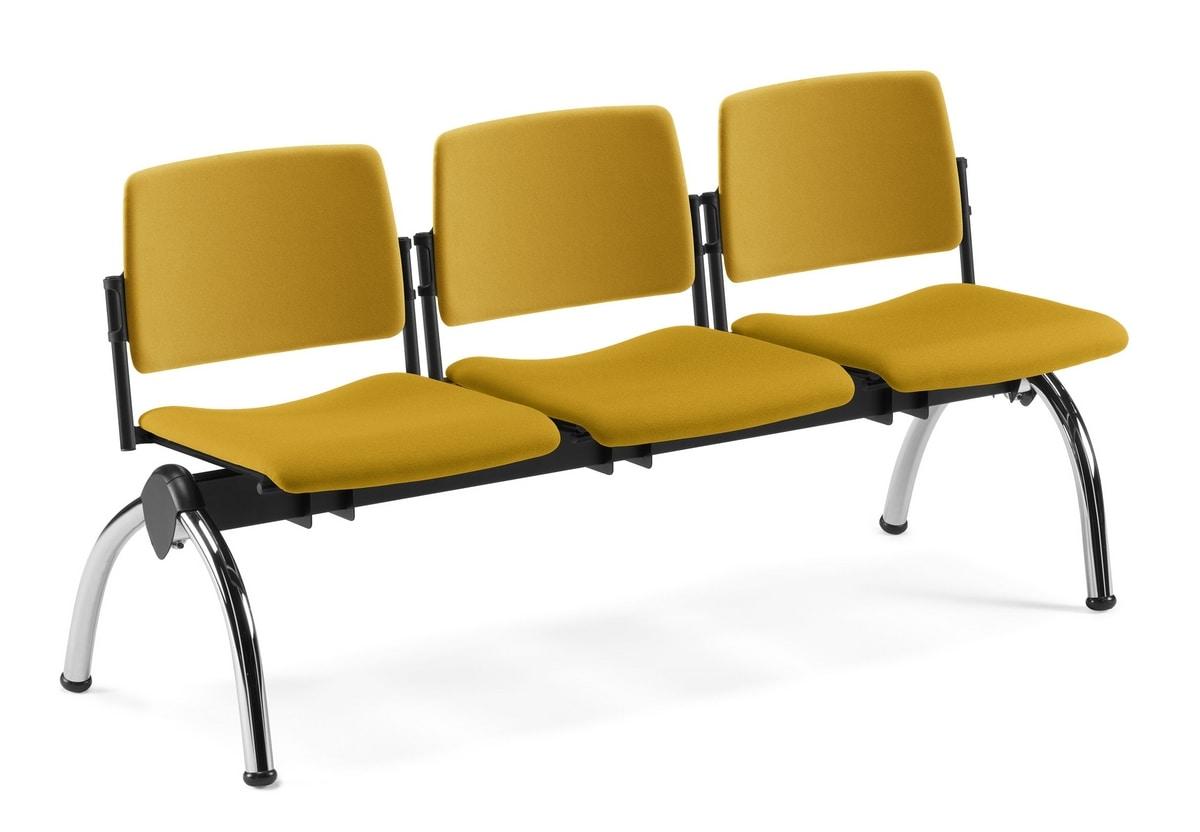 TEOREMA, Banco con asiento acolchado, para salas de espera