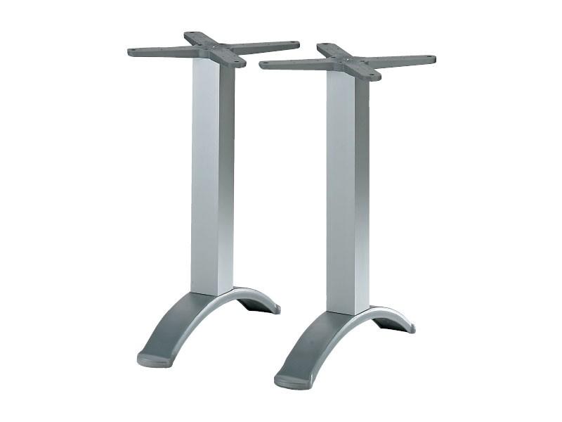 2 ped base cod. BG2J, Base de mesa de aluminio con doble columna