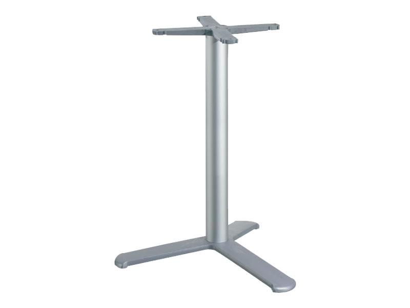 3 ped base h 115 cod. BGA3L, Base de mesa para bares, con la columna de aluminio