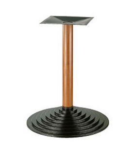 906, Base de metal para la tabla, la columna de haya, para los bares