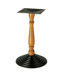907, Soporte para mesa, columna mecanizada en madera, para bares
