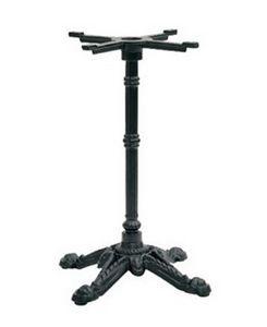 908 4 piernas, Base de hierro fundido para mesas de bar, con 4 radios