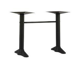 910, Bases para la mesa de un bar, con 2 columnas metálicas