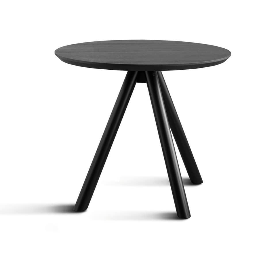 ART. 0098-3 CONTRACT, Base de mesa en madera, con tres patas