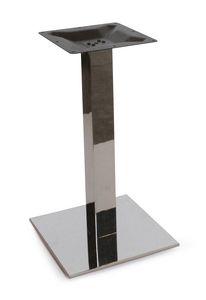 Art. 1037 Kuadra, Base de la mesa en acero inoxidable satinado o pulido.