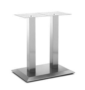 Art.281, Base de la mesa rectangular, marco de acero cepillado, por contrato y entorno doméstico