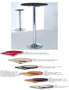 ART. 420, Base hecha de metal cromado o pintado para mesas de bar