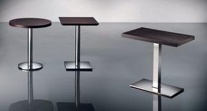 ART. 430, Base de metal cromado, diferentes alturas, para el restaurante